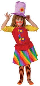 Costume clown enfant arc-en-ciel