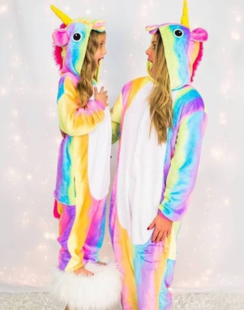 pyjama licorne arc-en-ciel