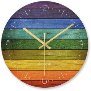 Horloge murale arc-en-ciel