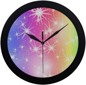 Horloge murale pastel ciel holographique