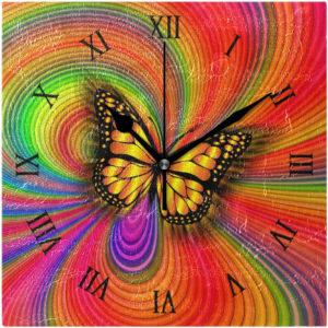 Horloge murale papillon