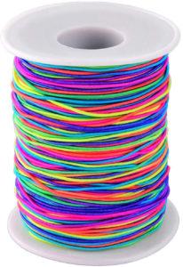 Bobine de fil élastique arc-en-ciel