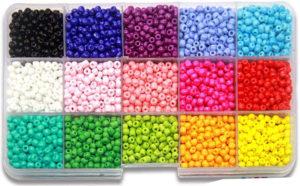 Mini perles de couleur plastique