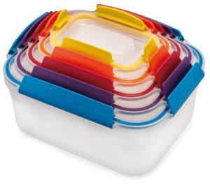 Boîte de rangement alimentaire arc-en-ciel