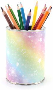 Pot à crayons arc-en-ciel