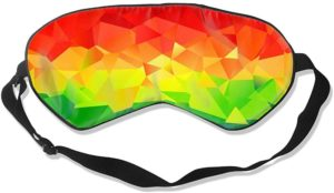 Masque de sommeil triangles arc-en-ciel