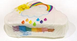 Bombe de bain nuage arc-en-ciel