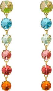 Technicolor rainbow earrings