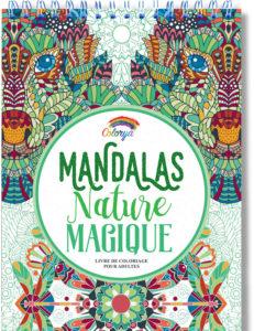 Cahier de coloriage mandalas nature magique