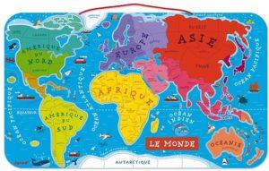 Carte du monte puzzle magnétique