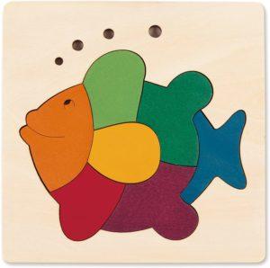 Puzzle poisson 8 pièces arc-en-ciel