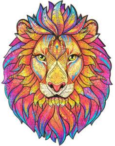 Puzzle lion arc-en-ciel
