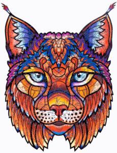 Puzzles en bois lynx arc-en-ciel