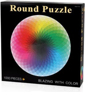 Puzzle rond arc-en-ciel 1000 pièces