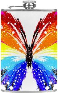 Flasque papillon arc-en-ciel