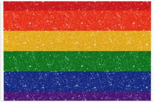 Paillasson drapeau pride arc-en-ciel