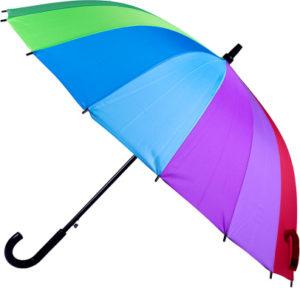 Parapluie à tranches arc-en-ciel