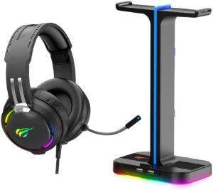 Combo Casque Gamer et support RGB