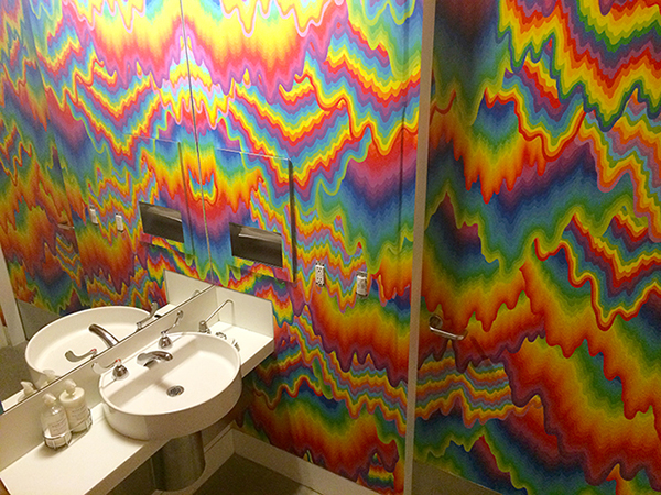 Jen Stark - installation in the Gagosian Gallery Beverly Hill's bathroom