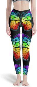 Leggings papillons arc-en-ciel