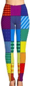 Leggings patchwork arc-en-ciel