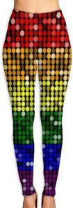 Leggings points colorés arc-en-ciel