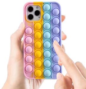 Coque silicone pop-it